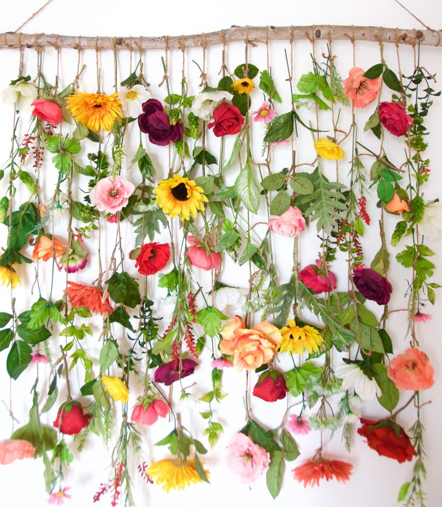 floral wall hanging DIY wall art 4
