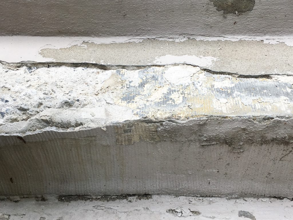 concrete step stair repair DIY before