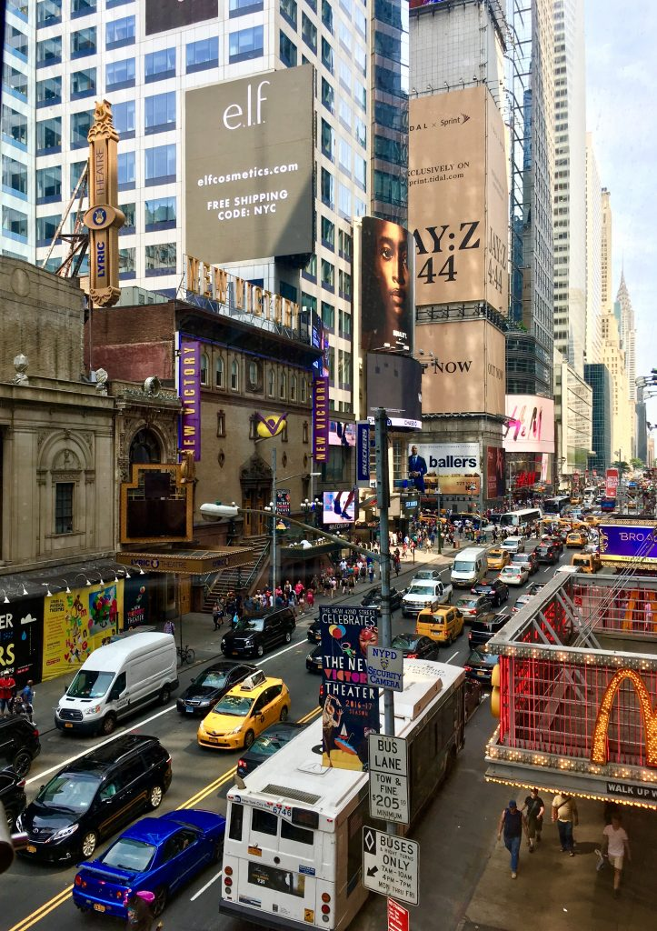 New York City Manhattan Time Square billboards traffic travel