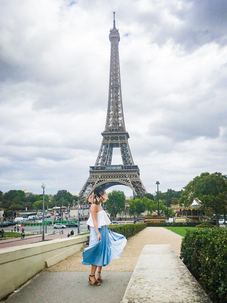 Paris travel Eiffel Tower fashion 1