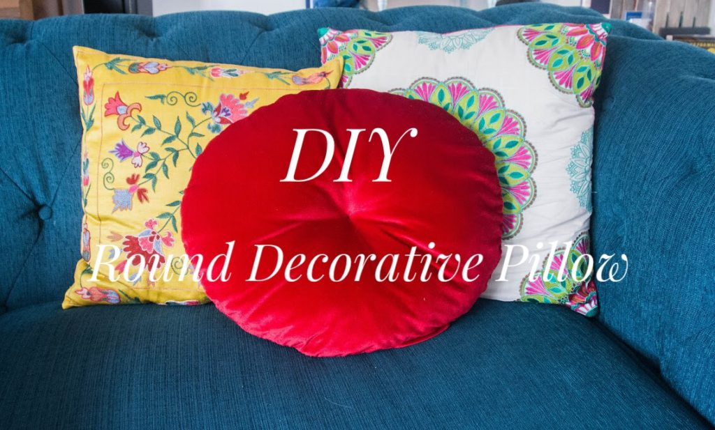 DIY round cushion decorative pillow 1