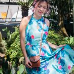 Montreal beauty fashion lifestyle blogger blog botanical gardens cactus dress Modcloth Nine West booties vintage leather crossbody purse 2