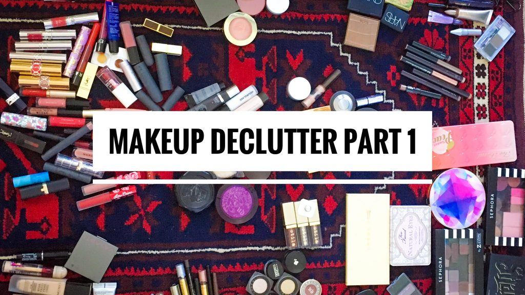 makeup beauty declutter Montreal beauty blogger