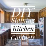 DIY Staining Oak Cabinets