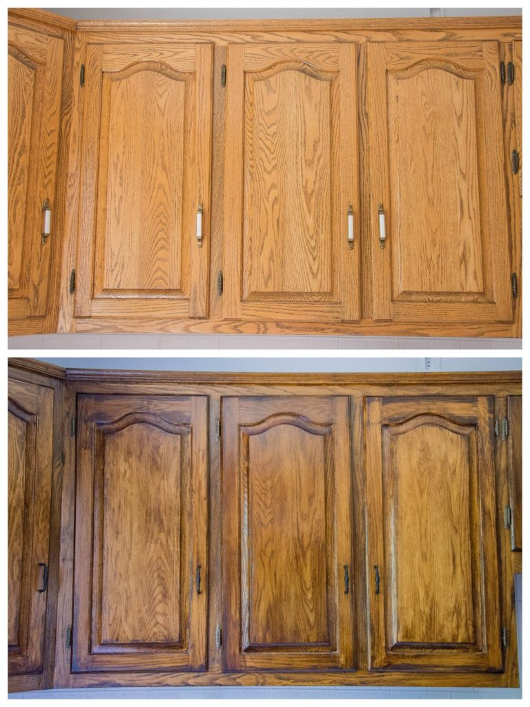 Staining Oak Cabinets Before And After Tcworks Org