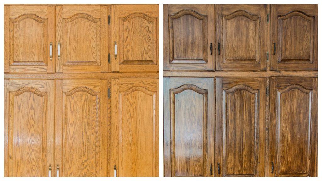 deep walnut Minwax wood stain after 5 Montreal lifestyle DIY blog