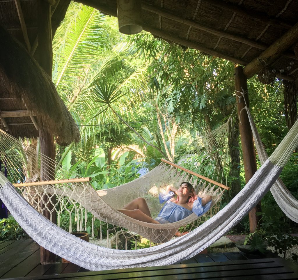 hammock hut Villas El Encantos Cozumel Mexico travel Montreal lifestyle blog