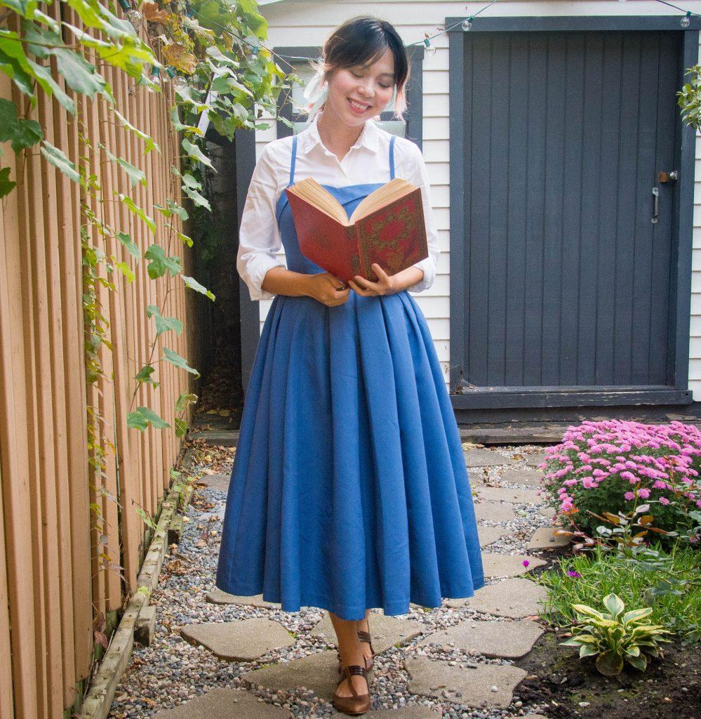 Belle blue dress Halloween costume Montreal fashion lifestyle beauty blog 2