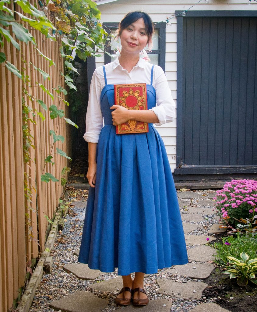 Belle blue dress Halloween costume Montreal fashion lifestyle beauty blog 3