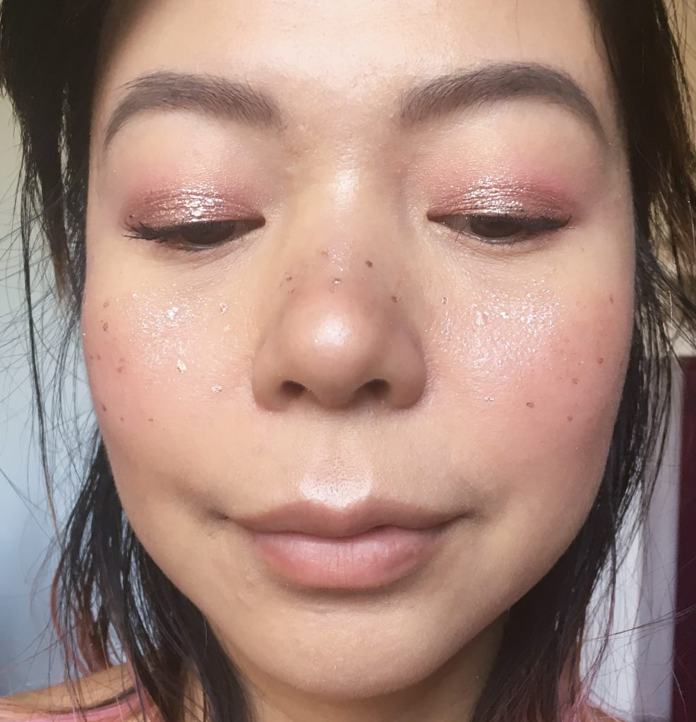 metallic glitter freckles pink woodland fairy Halloween makeup Montreal beauty fashion lifestyle blog