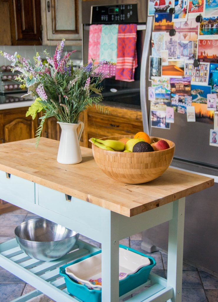 Ikea Forhoja kitchen island cart 2 Montreal DIY lifestyle blog budget kitchen remodel