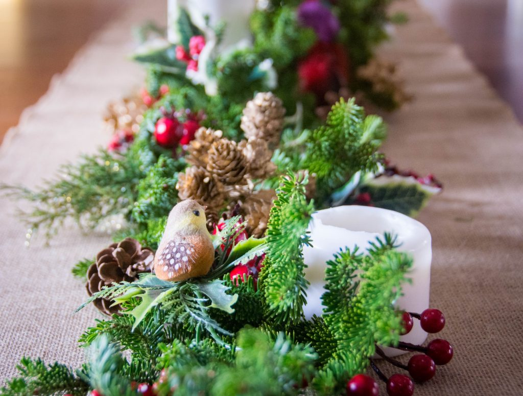 bird evergreen fir tree centrepiece easy Christmas decor Montreal lifestyle fashion beauty blog