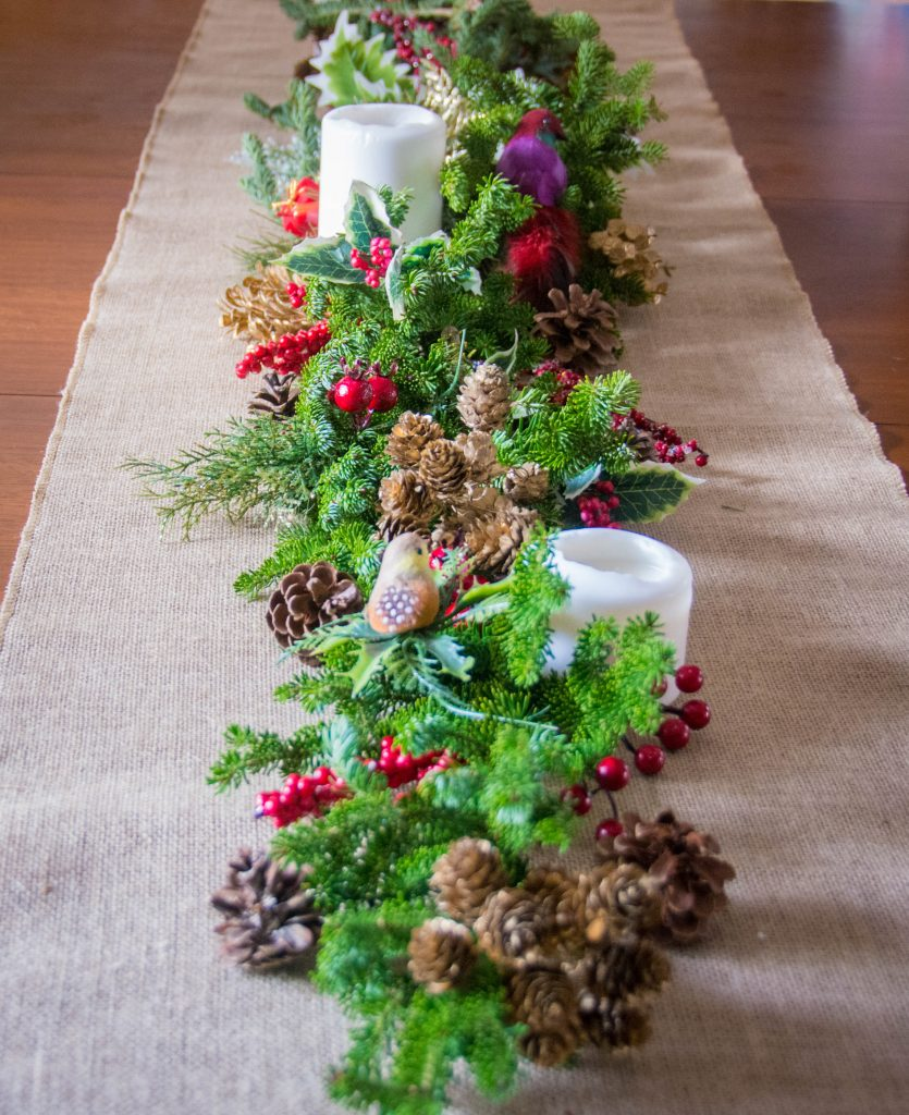 evergreen fir tree centrepiece easy Christmas decor Montreal lifestyle fashion beauty blog 1