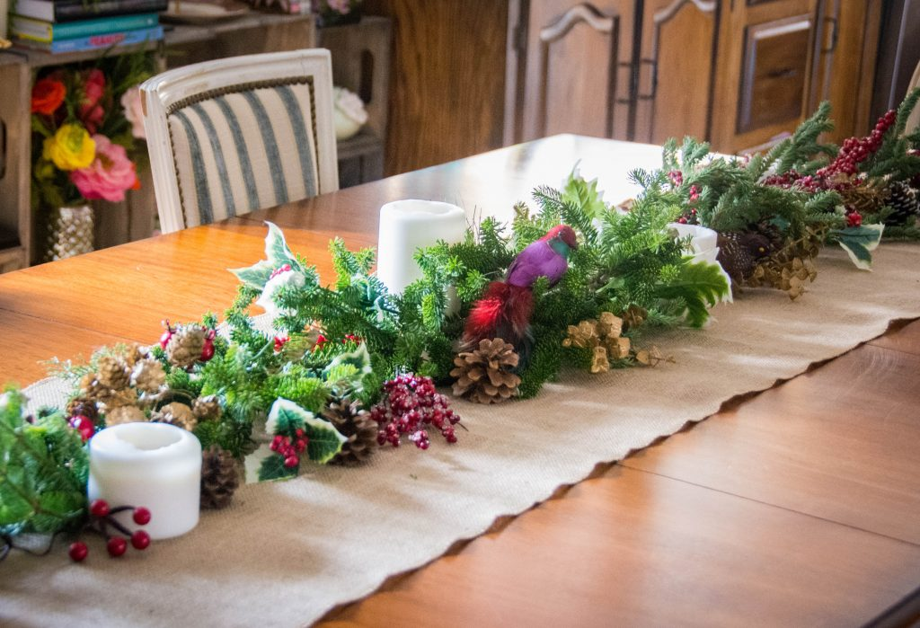 evergreen fir tree centrepiece easy Christmas decor Montreal lifestyle fashion beauty blog 2