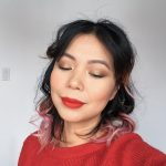 Gold glitter red lip classic holiday party makeup tutorial Montreal beauty fashion lifestyle blog