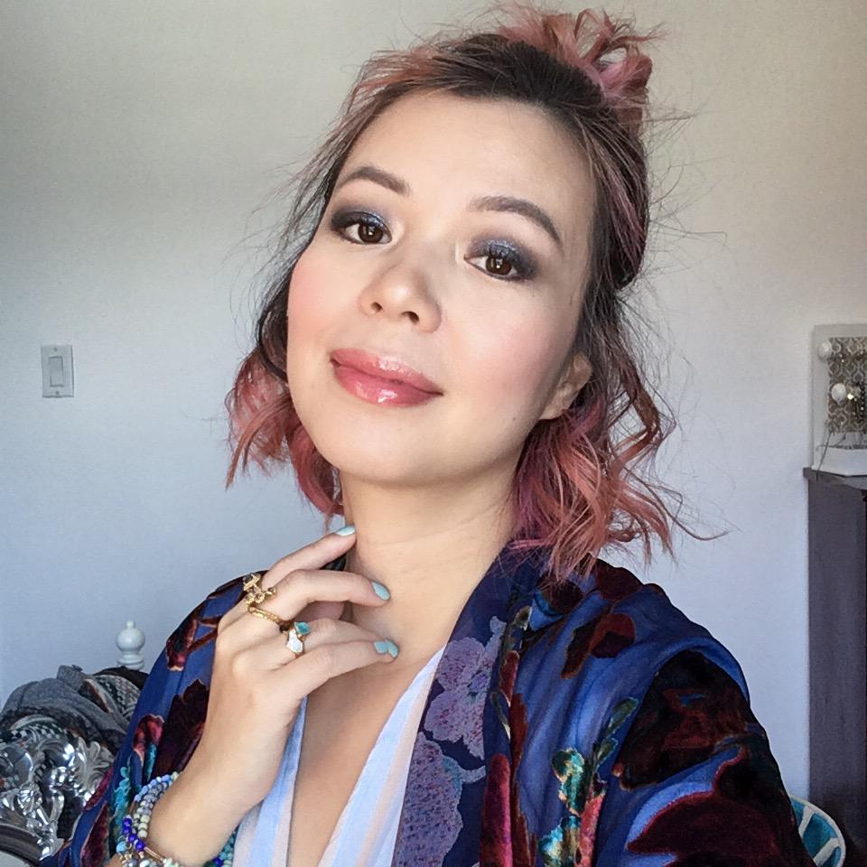 blue outfit velvet cardigan kimono stripped dress Montreal fashion lifestyle blog 1