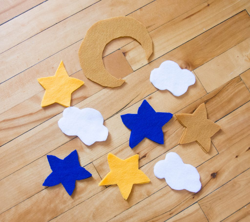 cut out felt 3D night sky moon star clouds Montreal lifestyle blog