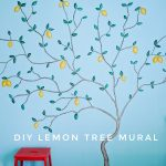 DIY Lemon Tree Mural