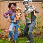Wizard of Oz family Halloween costume tin man scarecrow lion Montreal fashion beauty lifestyle blog 2