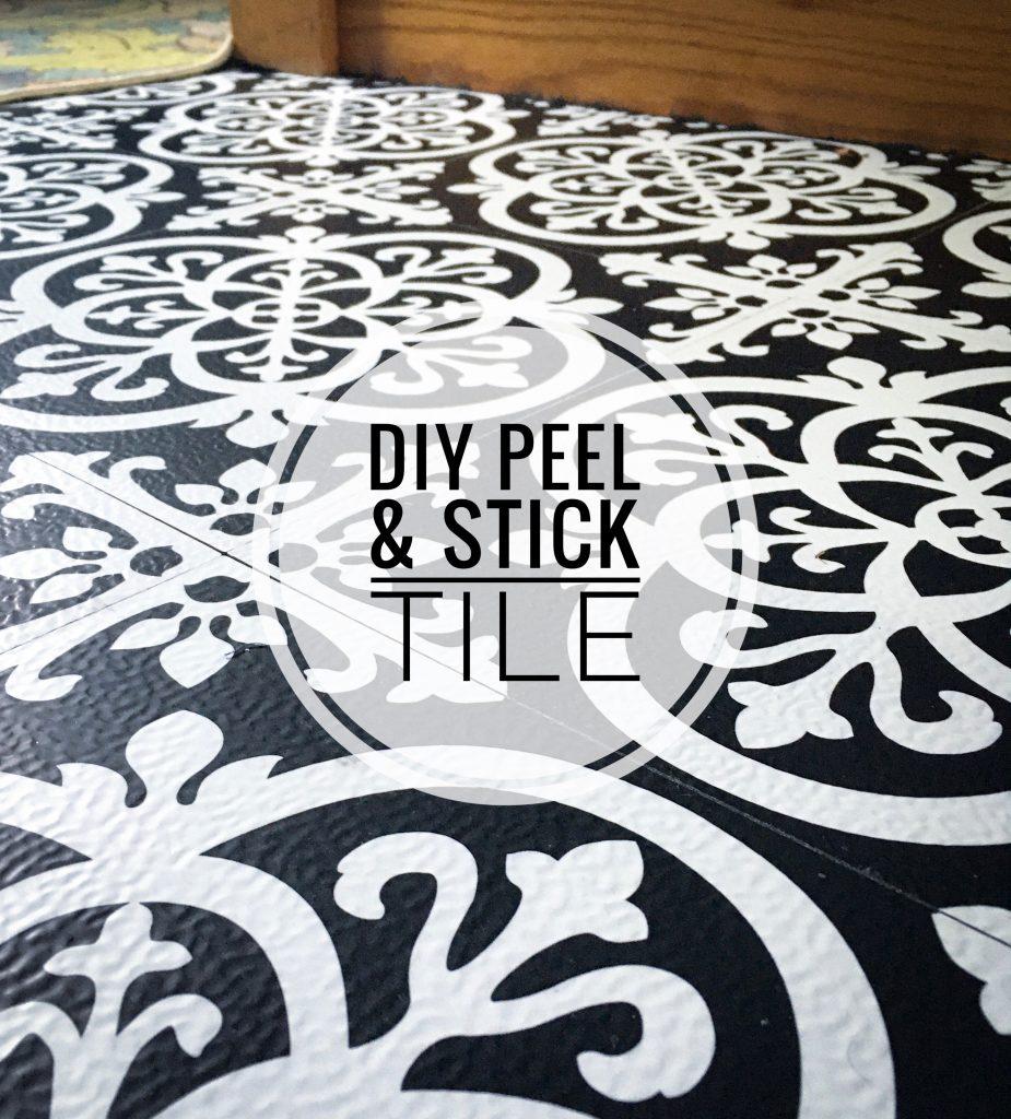 DIY peel and stick floor tile Montreal lifestyle fashion beauty blog