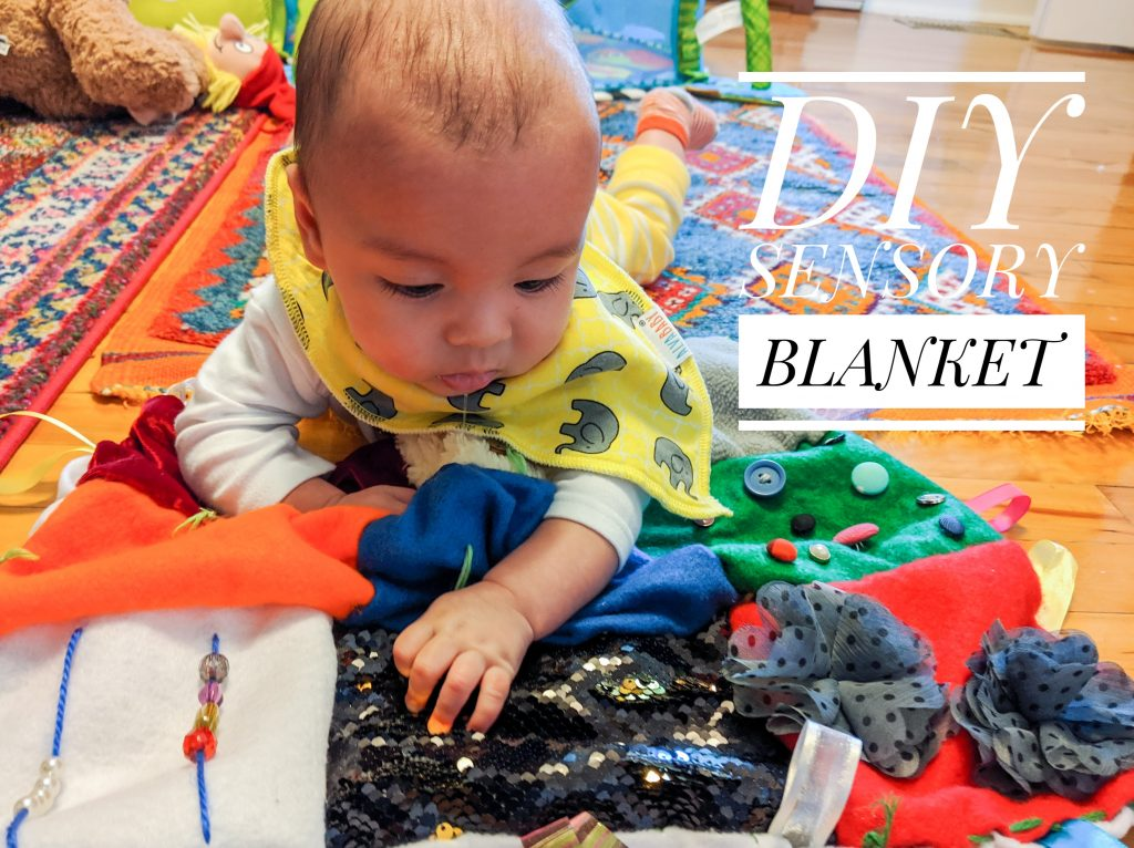 DIY sensory blanket Montrea llifestyle fashion beauty blog