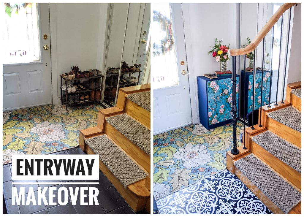 entryway makeover remodel Montreal lifestyle fashion beauty blog