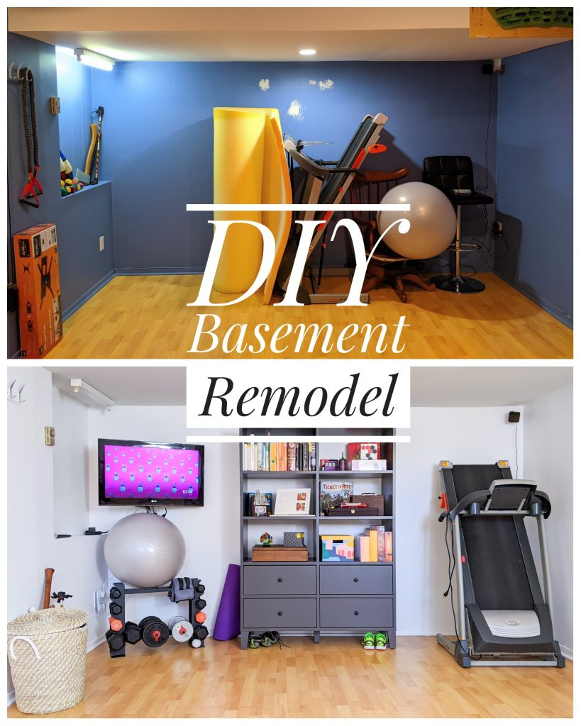 DIY basement remodel Montreal lifestyle fashion beauty blog