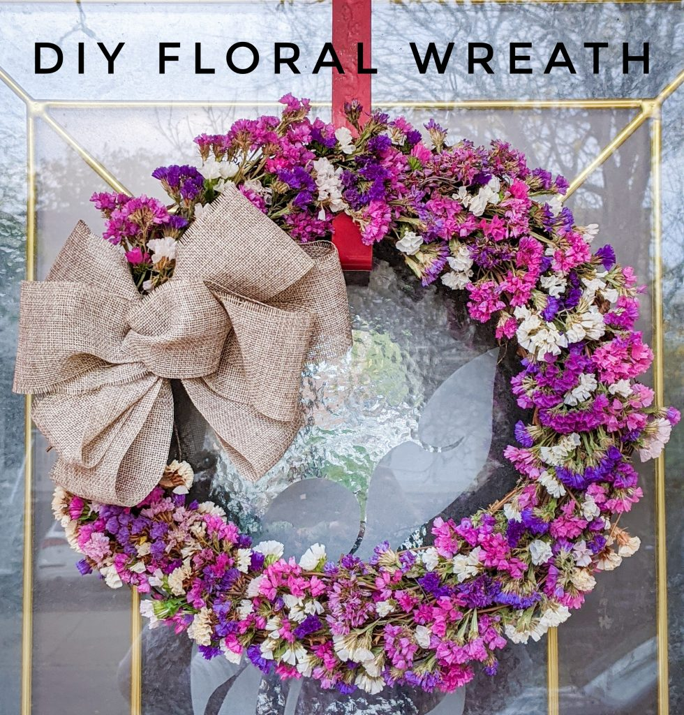 DIY floral wreath Montreal lifestyle fashion beauty blog