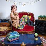 Simons cable knit cardigan Zara floral sundress winter fashion Montreal fashion beauty lifestyle blog 1